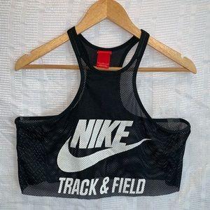 Nike track & field mesh crop athletic tank size L